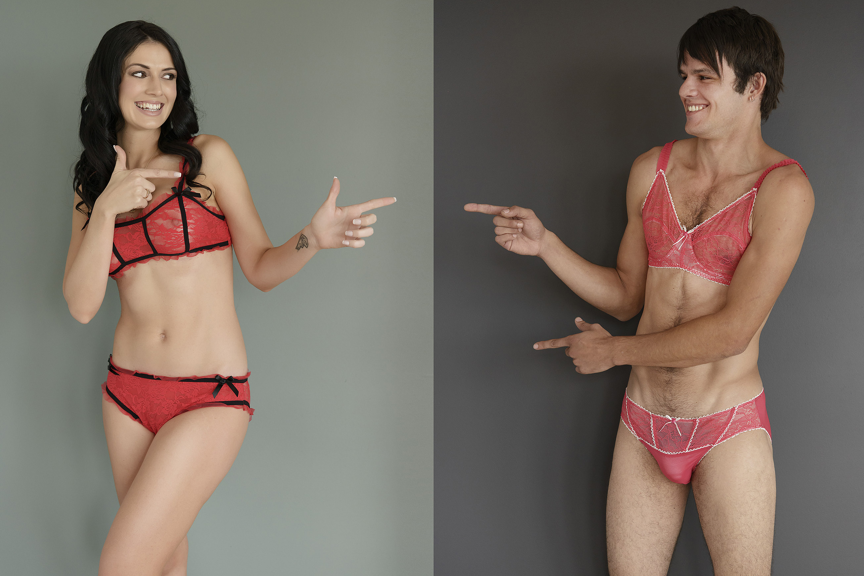 Фото мужского в женском, Странно, но сексуально: мужчины в кружевном белье 9 фотография